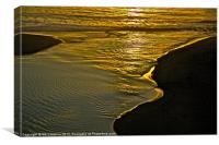 Golden Water, Canvas Print