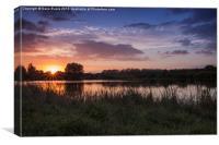 Horbury Lagoon Sunset, Canvas Print