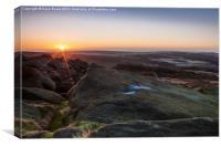 Higger Tor Sunrise Peak District, Canvas Print