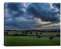 Yorkshire Sculpture Park Storm., Canvas Print