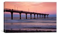 New Zealand Sunset Pier, Canvas Print