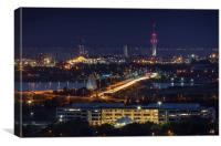 Portsmouth Night Skyline, Canvas Print