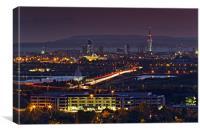 Portsmouth Skyline at Dusk, Canvas Print