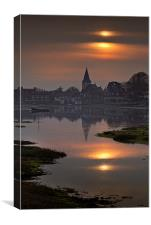 Bosham Church Sunset, Canvas Print