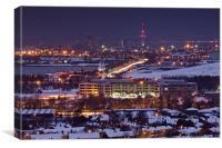 Snowy Portsmouth Skyline, Canvas Print