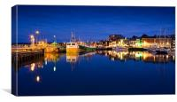 Padstow Harbour at Dusk, Canvas Print