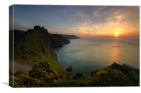 Valley Of the Rocks Sunset, Canvas Print