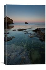 Trebarwith Strand at Dawn, Canvas Print