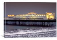 Snowy Brighton Pier, Canvas Print