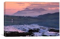 Cuillin Hills Sunset, Skye, Canvas Print