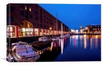 Albert Dock by Night, Canvas Print