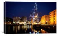 Liverpool Night Lights, Canvas Print