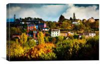 Autumn Village, Canvas Print
