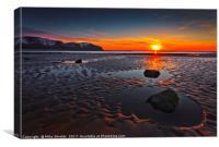 Rock Pools at Sunset, Canvas Print