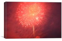 Illuminating Firework, Canvas Print