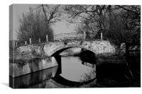 Mirrored bridge, Canvas Print
