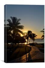 Cancun Sunrise, Canvas Print