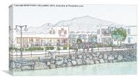 Restaurants in Rubicon Harbour, Canvas Print