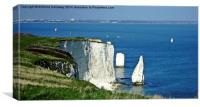 THE PINNACLE OLD HARRY ROCKS, Canvas Print