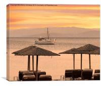 SKIATHOS TROULOS BEACH SUNSET, Canvas Print