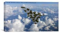 HIGH FLYING AVRO VULCAN  XH558      , Canvas Print