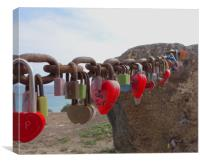 Padlocks Playa Blanca                     , Canvas Print
