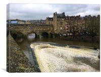 Pulteney Bridge and weir Bath, Canvas Print