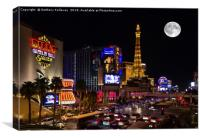 Las Vegas full moon, Canvas Print