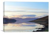 Loch a'Choire sunrise                            , Canvas Print