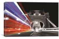 London Bus light trail, Canvas Print