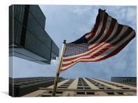 UNITED STATES FLAG (Chicago, USA), Canvas Print