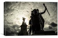 Victoria Memorial & Angel of Justice, Canvas Print