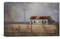 Homestead in Dust Storm, Canvas Print