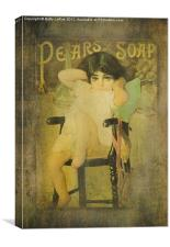 Pear Soap Girl, Canvas Print
