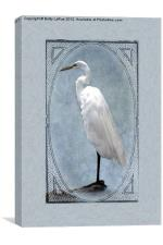 Great Egret Digital Painting, Canvas Print