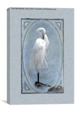 Great Egret Digital Painting #2, Canvas Print