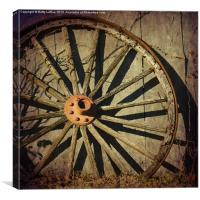 Old West Wagon Wheel, Canvas Print