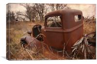 Where Old Trucks Go To Die, Canvas Print