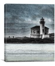 Coquille Lighthouse Drama, Canvas Print