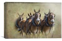 Old West Mule Train, Canvas Print