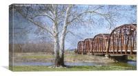 Route 66 Truss Bridge, Canvas Print