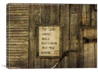 Old West Livery Stable, Canvas Print