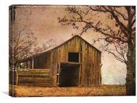 Vintage Wood Barn, Canvas Print
