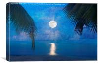 Tropical Moonglow, Canvas Print