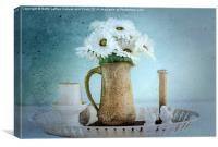 Moody Blue Daisies, Canvas Print
