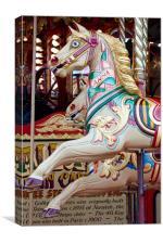 Funfair Carousel Horse, Canvas Print
