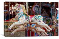 Horses on the Carousel, Canvas Print
