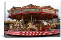 Steam Funfair Carousel, Canvas Print