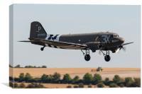 Douglas C-47 Skytrain Dakota, Canvas Print