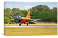 F-16AM Fighting Falcon with Jetwash, Canvas Print